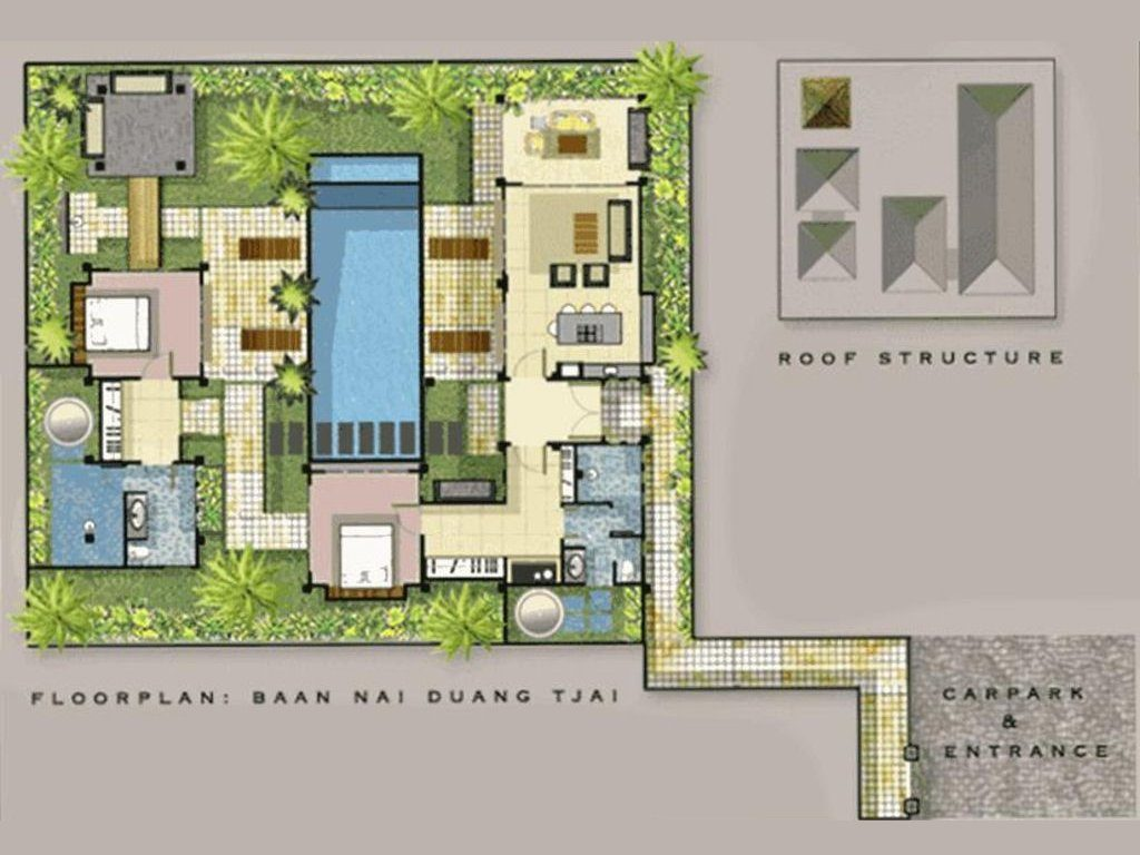 You Can See the Layout Here of Villa Samprasada --and all wings look over pool